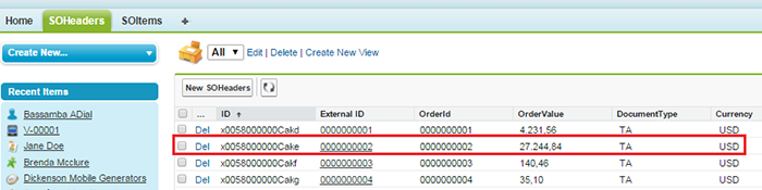 Viewing data in Salesforce
