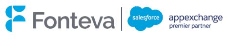 Logo Fonteva and Salesforce AppExchange - premier partner
